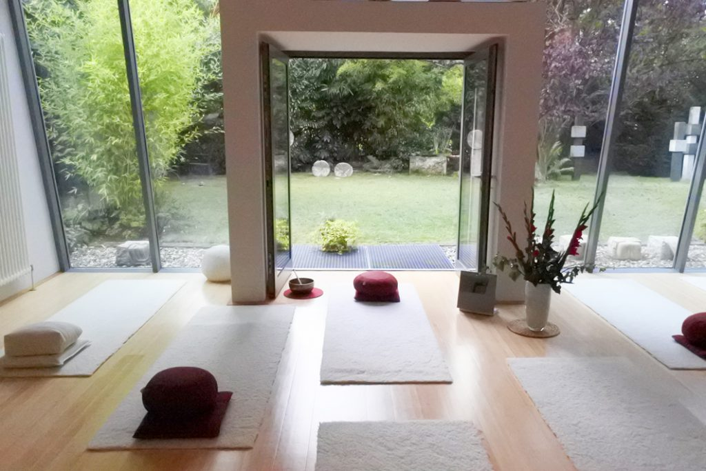 Yogaraum Köln-Sülz, Gartenblick