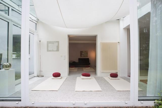 Yogaraum Köln-Sülz, Kleiner Yogaraum im Wintergarten